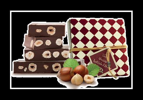 "Rustichella d'Abruzzo ""Torrone Nociolatto"" Nougat au chocolat Gianduja et noisettes 200 g"
