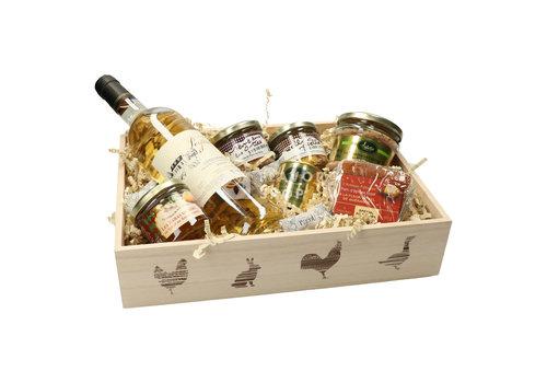Valette Geschenkmand Le Gourmand (wijn, terrines, foie gras & peperkoek)