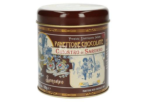 Rustichella d'Abruzzo Panettone chocolade - Chiostro di Saronno -  blik 100 g