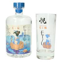 Etsu Japanese Gin met Glas - Geschenkverpakking 70 cl