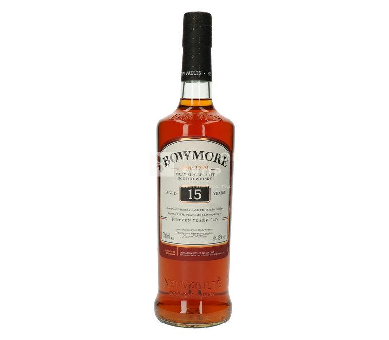 Geschenkverpakking - Bowmore Whisky 15 Y met 2 glazen