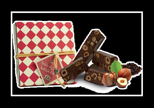 """Rustichella d'Abruzzo """"Torrone morbido al Cioccolato"""" Zachte nougat met chocolade 200 g"""