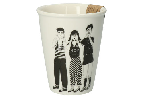 helen b Tasse en porcelaine 'hear see and shut up'