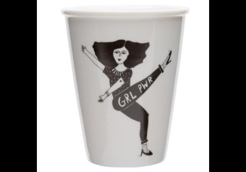 helen b Tasse en porcelaine 'Girl Power'