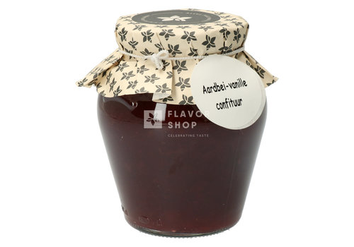 Pure Flavor Confituur Aardbei & Vanille 375ml