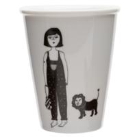 Tasse en porcelaine 'girl with cub'