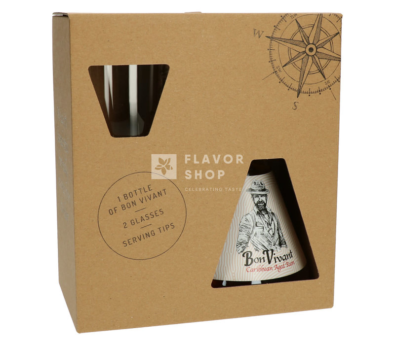 Bon Vivant Rum + 2 glazen Gift Pack