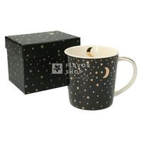 Porseleinen tas Moonlight zwart-goud - in geschenkdoosje