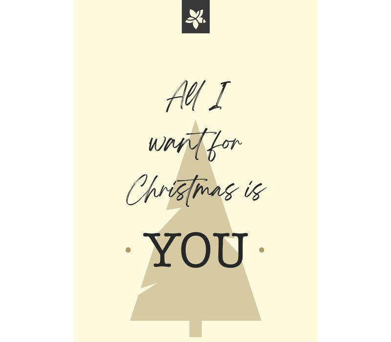 carte de voeux - All I want for Christmas is You (ajoutez votre message personnel)