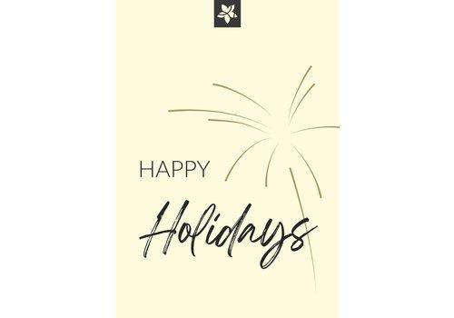 """Happy Holidays"" wenskaart"