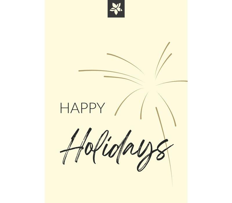 carte de voeux - Happy Holidays (ajoutez votre message personnel)