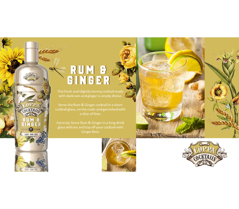 Rum & Ginger 'Ready to drink' Cocktail 70 cl