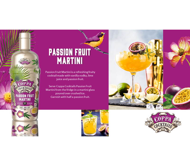 Passion Fruit Martini 'Ready to drink' Cocktail 70 cl