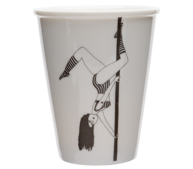 Tasse en porcelaine 'Poledancer'