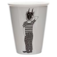 Tasse en porcelaine 'The mask man'