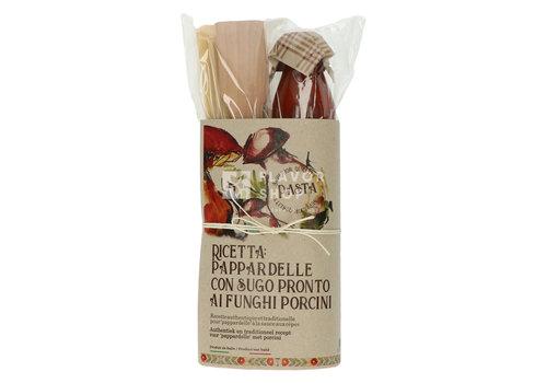 Casarecci di Calabria Pastarecept: PappardelleaiFunghiPorcini