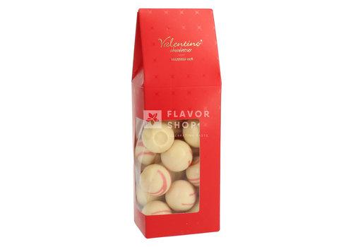 Valentino Chocolatier Truffels Pink Marc de Champagne &wittechocolade+/-200g