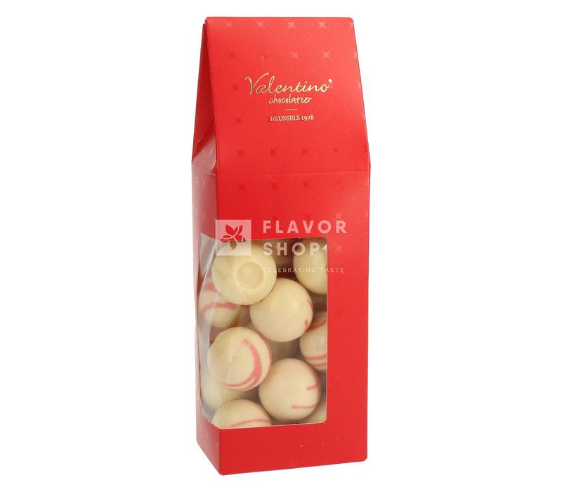 Truffes Marc de Champagne Rose &ChocolatBlanc -Artisanales+/-200g