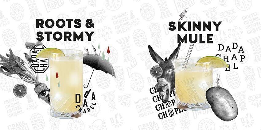 Dada Chapel cocktails met rum of vodka