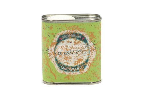 Huile d'olive Basilico Extra Vierge en boîte de 100 ml