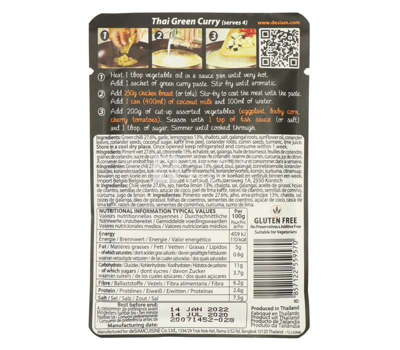 Groene Currypasta in Pouch
