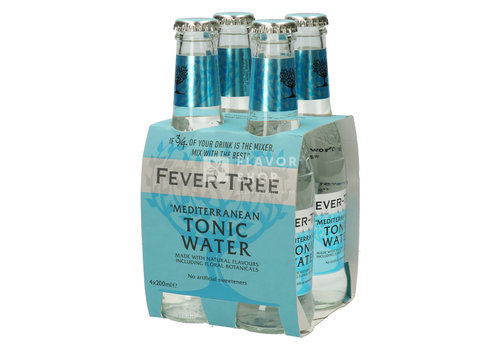Fever Tree Fever Tree Mediterranean Tonic (Blauw) Clip van 4