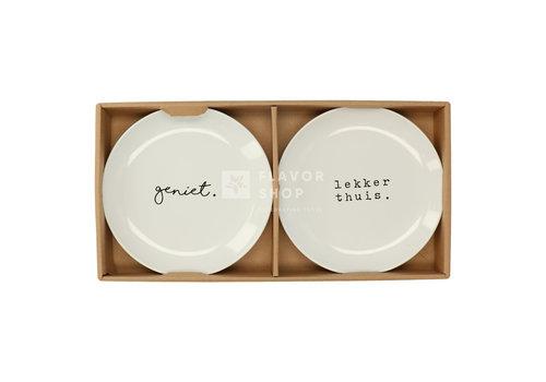 Gusta Jeu d'assiettes 20 cm Geniet/ Lekker thuis - Genieters