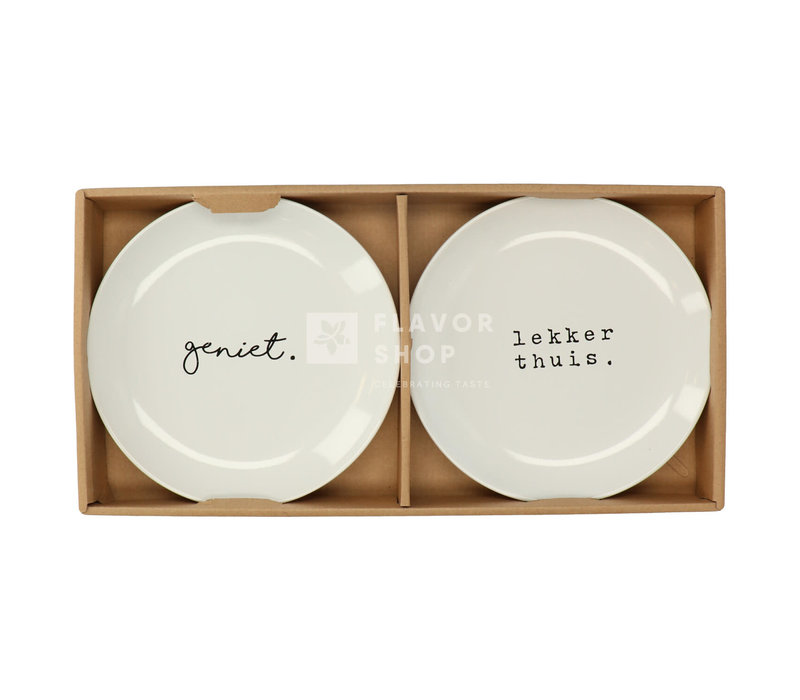 Jeu d'assiettes 20 cm Geniet/ Lekker thuis - Genieters