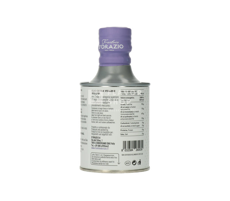 Huile d'olive Puglia Extra Vierge 250 ml