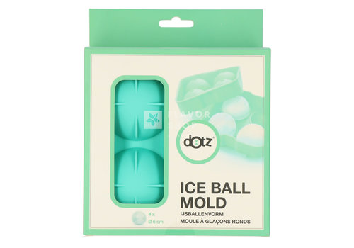 Silicone Ijsballenvorm Voor 4 Ijsballen, Groen, Ø 6cm