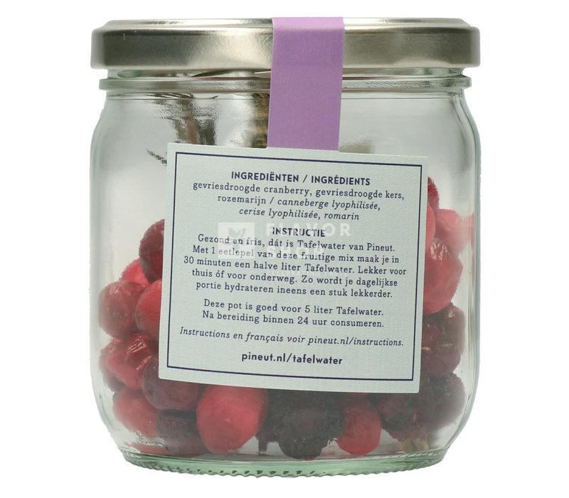 Refill Tafelwater Cranberry, kers en rozemarijn