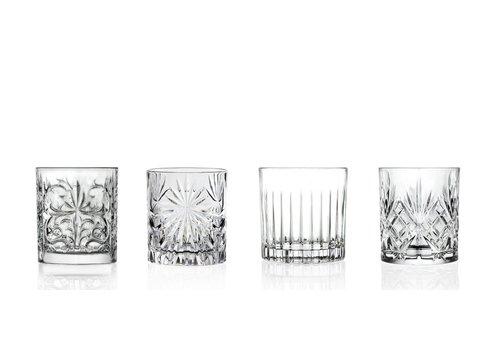 RCR Cristalleria Italiana MIXOLOGY SET 4 COCKTAIL/WHISKEY GLAZEN