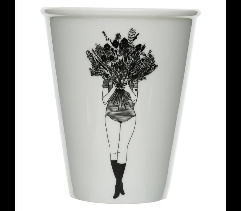 Tasse en porcelaine flower girl