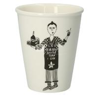 Tasse en porcelaine 'IkissbetterthanIcook' -éditionlimitée