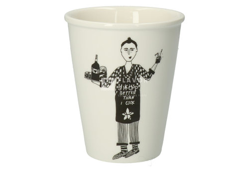 helen b Tasse en porcelaine 'IkissbetterthanIcook'