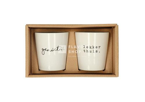 Gusta Jeu de tasses Geniet/ Lekker thuis - Genieters
