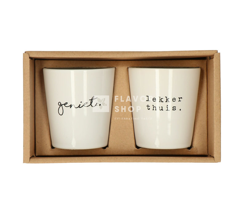 Jeu de tasses Geniet/ Lekker thuis - Genieters