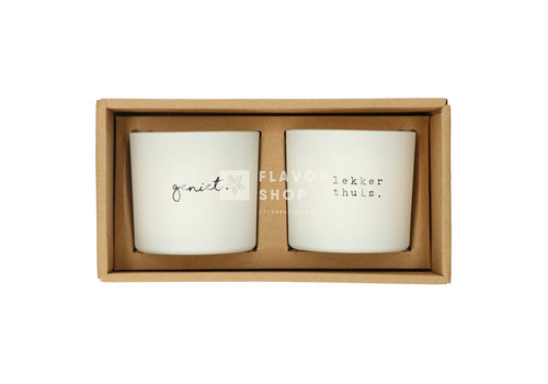 Gusta Set de bougies Geniet/ Lekker thuis - Genieters