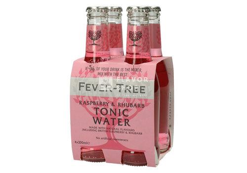 Fever Tree Fever Tree Raspberry & Rhubarb Tonic (Roze) Clip van 4
