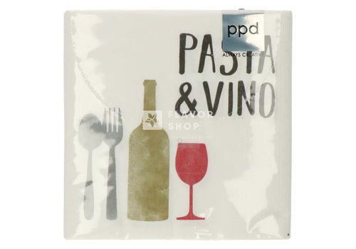 PPD Servietten Pasta & Vino 33x33 cm