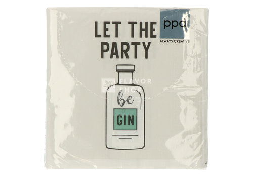PPD Servietten Let the Party be Gin  33x33  cm