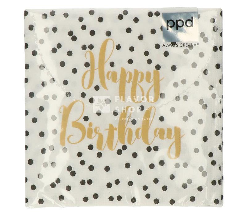 Servietten Birthday Confetti 33x33 cm