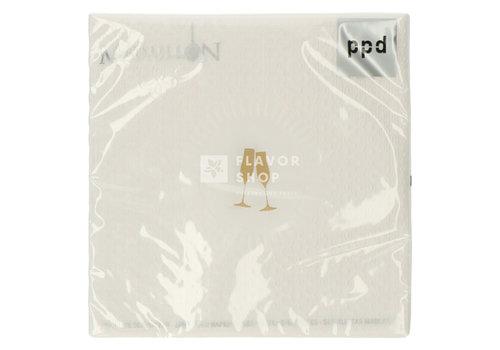 PPD Servietten Medaillon Cheers pearl 33x33 cm
