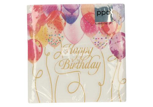 PPD Servietten Birthday Balloons 33x33 cm