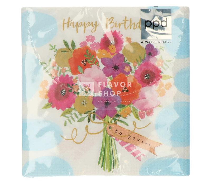 Servietten Happy Flowers  33x33 cm