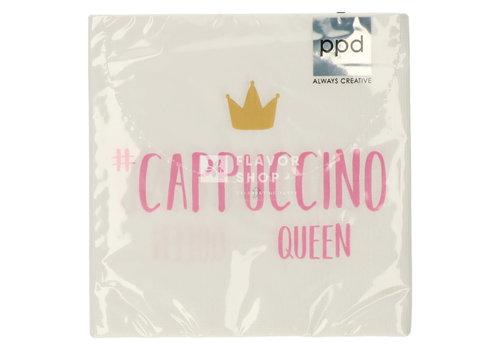 PPD Servietten Cappuccino Queen 33x33 cm