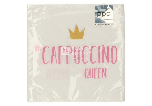 PPD Servietten Cappuccino Queen