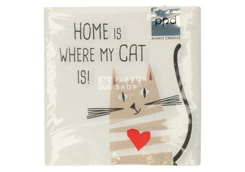 PPD Servietten Home Cat