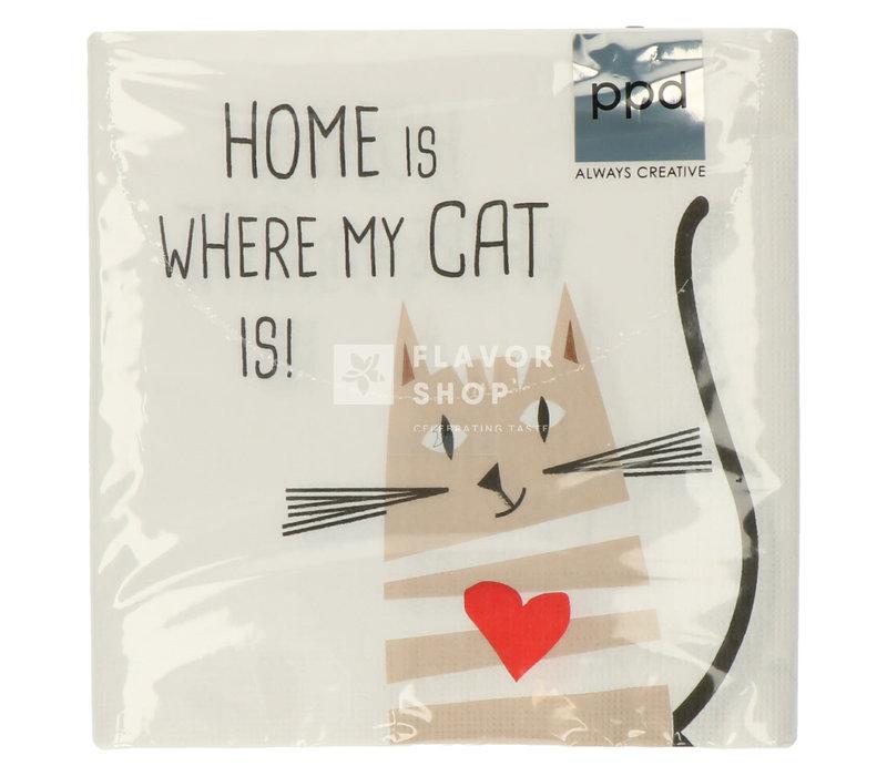 Servietten Home Cat 33x33 cm