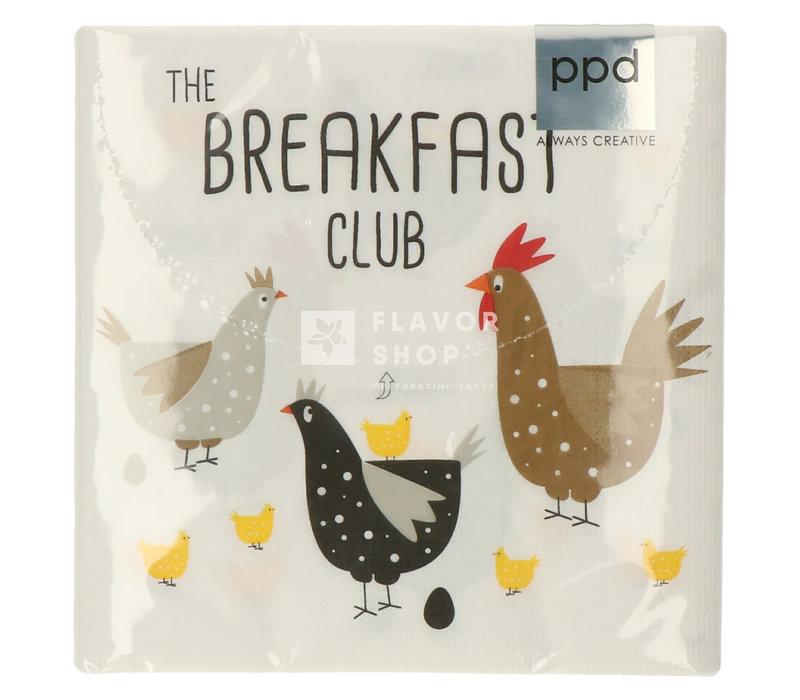 Servietten Breakfast Club 33x33 cm